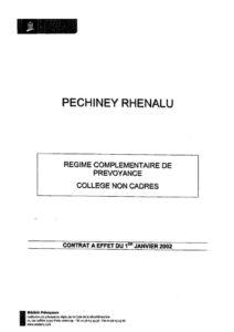 thumbnail of Régime complémentaire de prévoyance collège non-cadres