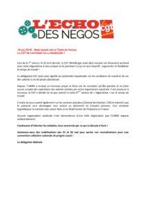 thumbnail of Echo des négos du 18 mai 2018