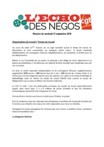 thumbnail of Echo des négos du 21 septembre 2018