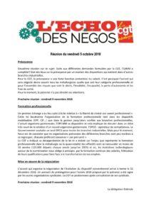 thumbnail of Echo des négos du 5 octobre 2018