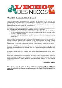 thumbnail of Echo des négos du 17 mai 2019
