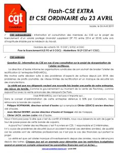 thumbnail of Flash – CSE du mois d'AVRIL 2019