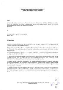 thumbnail of Accord Egalité Professionnelle signé