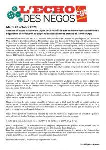 thumbnail of Echo des négos du 20 octobre 2020